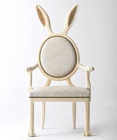 This would be so cute in a little girl's Alice in Wonderland themed room. Rabbit chair by Merve Kahraman
