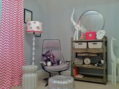 Hot pink and grey Nursery