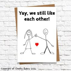 Hilarious anniversary/birthday card for husband boyfriend girlfriend or wife