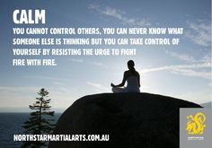 #martialarts training will enhance the quality of a mindful experience. When we are #mindful, we are aware of our own space, which extends to the space around you. How you behave within that space can influence the attitude of others. We cannot control what others think or do, but we can act in a way that enables a good outcome. Mindful awareness cultivates a #calm attitude to life. Start now by breathing…breathe in….breathe out…and try it when you feel stress looming. #buildabetteryou
