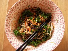 Seaweed Salad with Cucumber, Carrot, and Cabbage