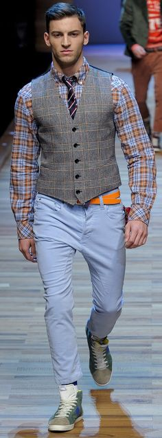 Josh -  mix patterns if they have the same color in both of them and colors blend well together.  VIP Fashion Club 40-80% Off Luxury Fashion Brands