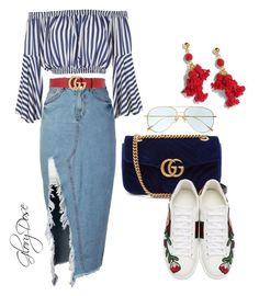 """Untitled #92"" by chichimia on Polyvore featuring storets, Love, Gucci, Cutler and Gross and J.Crew"