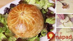 Camembert pečený v lístkovom ceste so zemiakmi a slaninkou