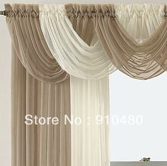 luxury sheer curtain valance waterfall swag valance   W 60 cm * H 50 cm free shipping $50.00