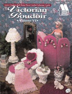 Annies Attic Fashion Doll Victorian Boudoir Crochet Furniture Pattern Leaflet for Barbie 532B