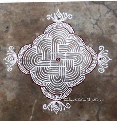 Rangoli and Art Works: PADI KOLAM Rangoli Patterns, Rangoli Ideas, Kolam Rangoli, Flower Rangoli, Zentangle Patterns, Easy Rangoli, Indian Rangoli Designs, Rangoli Designs Images, Rangoli Designs With Dots