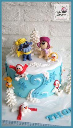 Taart Woezel en Pip sneeuwpret Cake Woezel and Pip Snowfun