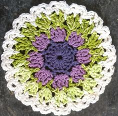 Lavender & Spearmint Dishcloth – Maggie Weldon Maggies Crochet; free pattern