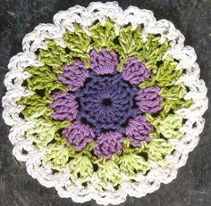 Lavender & Spearmint Dishcloth – Maggie Weldon Maggies Crochet; free pattern ❥Teresa Restegui http://www.pinterest.com/teretegui/❥
