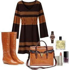 Shades of brown. Fall outfit