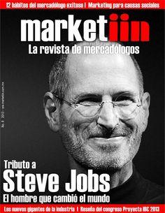 """Lunes con """"L"""" de Leer #Marketiin de Noviembre. En esta edición hacemos un tributo a #SteveJobs, el hombre que cambió el mundo.   No te la puedes perder!!   http://www.marketiin.com.mx/inicio/revista-del-mes/"""