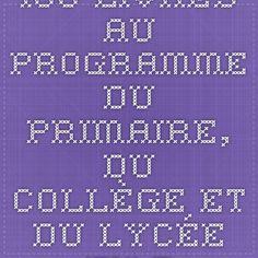 100 livres au programme du primaire, du collège et du lycée en téléchargement gratuit » VousNousIls