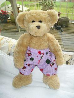 Teddykleidung Teddy-Hose - lila - mittelgroß von cassietoff auf DaWanda.com