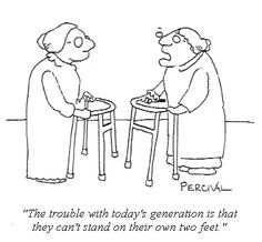 Cartoon: Seniors discuss what is wrong with younger generation