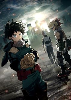 Much Intense, Quite Awesome Boku no Hero Academia || Midoriya Izuku, Katsuki Bakugou, Todoroki Shouto.