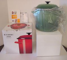 NEW Le Creuset Rosemary Enameled Steel 10 Quart Stockpot, Green, DISCONTINUED #LeCreuset