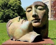 """Hermanos"" sculptutes by Igor Mitoraj."