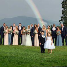 Beautiful rainbow on a beautiful wedding day! #RealMVG #MVGMoments #Rainbow #Beautiful #RealWeddings #NHWeddings