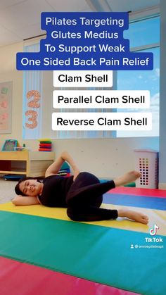 Pilates Workout Routine, Gym Workout Videos, Flexibility Workout, Hip Workout, Pilates Video, Pilates For Beginners, Back Pain Exercises, Stretches, Mini Workouts