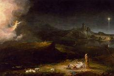 Aniołowie ogłaszają pasterzom narodziny Mesjasza