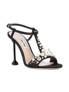 963ce281b Miu Miu Pearl-embellished Sandals - Farfetch  MiuMiu