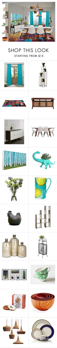 """""""Modern Dining"""" by caymansunshine ❤ liked on Polyvore featuring interior, interiors, interior design, home, home decor, interior decorating, Exclusive Fabrics & Furnishings, Dot & Bo, Crosley and Bernhardt"""