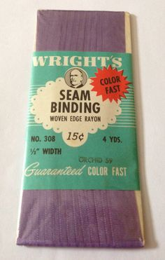 Vintage Rayon Seam Binding by NerdsNotions on Etsy,