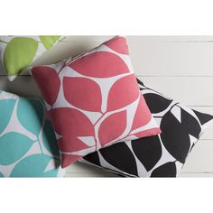 Grey, Pink Throw Pillows : Place throw pillows on a bare sofa to spruce up the furniture's design. Free Shipping on orders over $45!