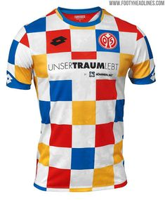 684e9dbd303 The four-colored checkered jersey is inspired by an unforgotten cult jersey  from the Mainz 05 will wear their Carnival 2019 Kit during ...