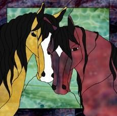 patterns for horse stain glass | Stained Glass Horse patterns continue below. #StainedGlassHorse