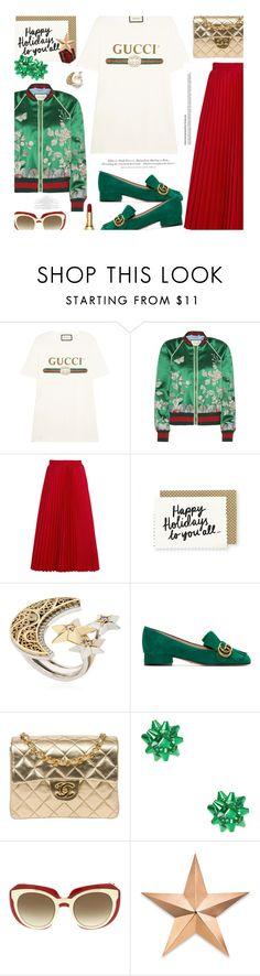 """Happy Holidays❣️..."" by unamiradaatuarmario ❤ liked on Polyvore featuring Gucci, Balenciaga, AZZA FAHMY, Chanel, Dolce&Gabbana, H&M and Thos. Baker"