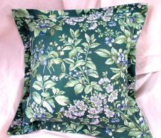 *** STUNNING PILLOWS - Overlap Back Flap - Inserts Included **** Cotton fabric - Easy Care - Pillow insert easily removable - Polyester non-allergen Laura Ashley Pillows, Laura Ashley Quilts, Neck Roll Pillow, Ralph Lauren Fabric, Blue Comforter Sets, European Pillows, Quilted Pillow Shams, Floral Pillows, How To Make Pillows