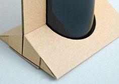 Cardboard Bottle Carrier on Behance Craft Packaging, Cardboard Packaging, Bottle Packaging, Packaging Design, Bottle Box, Bottle Carrier, Olives, Origami Box, Envelope Design