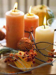 Autumn Decorations  #autumn, #decorations, #candles