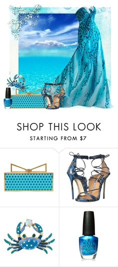 """""""Water"""" by gloriadeym ❤ liked on Polyvore featuring Sara Battaglia, Dsquared2, Betsey Johnson and OPI"""