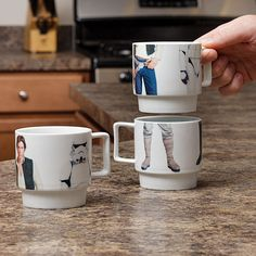 Star Wars stackable mugs set. Just think: Coffee with Harrison Ford every morning.