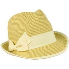 2 Tone Ribbon Bow Beach Summer Fedora Trilby Crusher Sun Cap Hat Natural Ivory SK Hat shop. $9.95