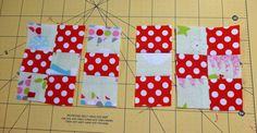 44th Street Fabric: 9 Patches from Squares - a Tutorial