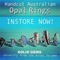 Proudly selling solid natural Australian Opal seen here set in sterling silver 💕 . Opal Australia, Gold Coast Australia, Tamborine Mountain, Australian Opal, Opal Rings, Bespoke, Science, Earth, Jewellery