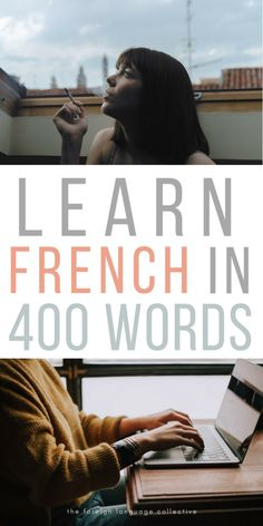 Learn French in 400 Words French Language Lessons, Spanish Language Learning, French Lessons, Foreign Language, Learn French Beginner, French For Beginners, Basic French Words, How To Speak French, French Articles