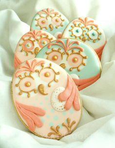 Beautiful owl cookies