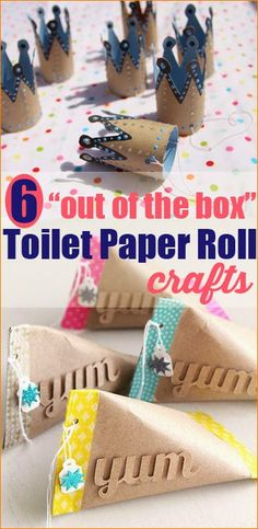 Lots of great ideas! Six Crafts You Can Make with Toilet Paper Rolls on Creative Green Living