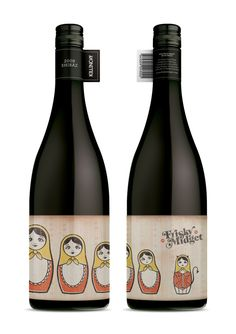 Frisky Midget Wines (from Perth) - If I was a wine drinker, I'd definitely go for a Frisky Midget #bottle #wine #packaging #creative