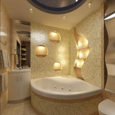 Jacuzzi Tub Shower Combination soaking tub with shower country home decor ideas Bathroom Tub Shower, Tub Shower Combo, Small Bathroom, Corner Jacuzzi Tub, Washbasin Design, Spanish Style Bathrooms, Concrete Bathroom, Bathroom Design Inspiration, Bathroom Design Luxury