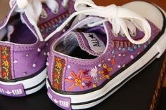 27. Embroider Them | 30 DIY Ways To Jazz Up Your Converse Sneakers