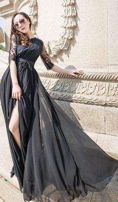 eBuyStudio Chiffon Black Lace Holiday Dress – #dresses #moda #fashion #womensfashion #bhfyp #ebuystudio Midi Dress With Sleeves, Lace Midi Dress, Navy Dress, Holiday Dresses, Fall Dresses, Bridesmaid Dresses, Prom Dresses, Vacation Dresses, Chiffon