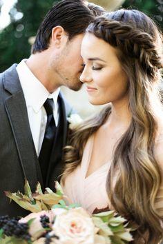 Breathtaking Wedding Portraits in an Autumn Garden | Jennifer Munoz Photography on @heyweddinglady via @aislesociety