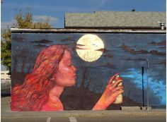 by Anarkia Boladona (aka Panmela Castro) speaks out to women and also uses graffiti to convey a message of hope to women who have/ are suffering domestic violence