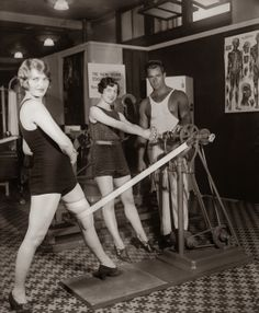 Vintage Photo of Women in The Old Workout Gear in the 1930s